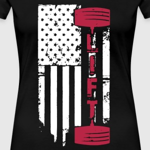 Weight Lift Flag Shirt - Women's Premium T-Shirt