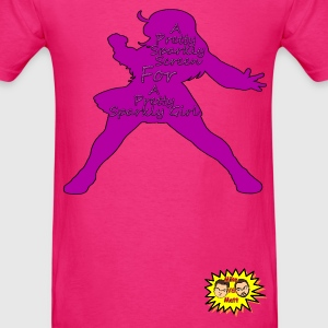 Pretty Sparkly Girl Logo T-Shirts - Men's T-Shirt