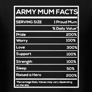Army Mum Facts - Men's T-Shirt