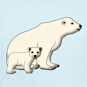mother polar bear and baby Baby Bodysuits - Baby Short Sleeve One Piece