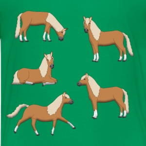 brown horses Kids' Shirts - Kids' Premium T-Shirt