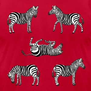 zebra T-Shirts - Men's T-Shirt by American Apparel