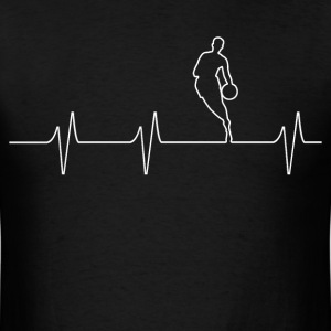 Basketball Heartbeat - Men's T-Shirt