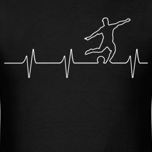 Soccer Heartbeat  - Men's T-Shirt