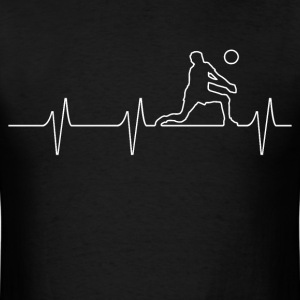 Volleyball Heartbeat - Men's T-Shirt