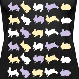 many rabbits vektor Tanks - Women's Premium Tank Top