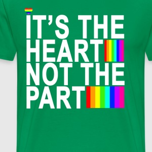 heart_not_the_part_transgender_tshirt - Men's Premium T-Shirt