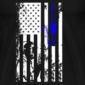 Welder Flag Shirt - Men's Premium T-Shirt