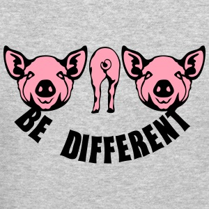 be different pig Long Sleeve Shirts - Crewneck Sweatshirt
