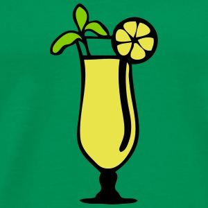 cocktail glass lemon 1007 T-Shirts - Men's Premium T-Shirt