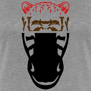 animal portrait cheetah robot gorilla T-Shirts - Women's Premium T-Shirt
