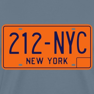 Classic New York License Plate NYC-212 T-Shirt - Men's Premium T-Shirt