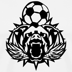 soccer pitbull wing logo sports club T-Shirts - Men's Premium T-Shirt