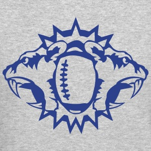 football sports tiger logo circle picnic Long Sleeve Shirts - Crewneck Sweatshirt