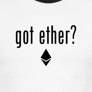 Goth Ether? Ethereum logo - Black T-Shirts - Men's Ringer T-Shirt