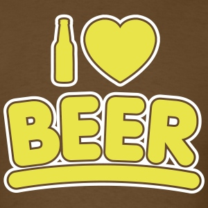 I ♥ BEER (2 Color) T-Shirts - Men's T-Shirt