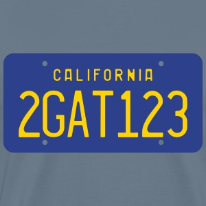 Retro 2GAT123 California License Plate T-shirt - Men's Premium T-Shirt