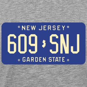 Retro New Jersey 609-SNJ license plate T-Shirt - Men's Premium T-Shirt