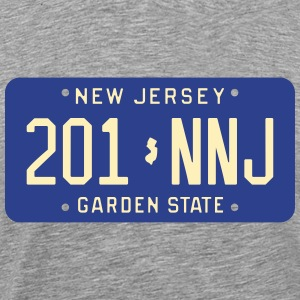 Retro New Jersey 201-NNJ license plate T-Shirt - Men's Premium T-Shirt