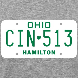 Retro Cincinnati Ohio CIN-513 license plate  - Men's Premium T-Shirt