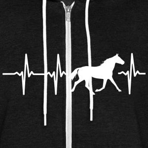 I LOVE HORSES! MY HEART BEATS FOR HORSES! Zip Hoodies & Jackets - Unisex Fleece Zip Hoodie by American Apparel