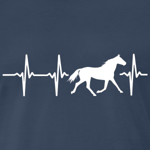 I LOVE HORSES! MY HEART BEATS FOR HORSES! T-Shirts - Men's Premium T-Shirt