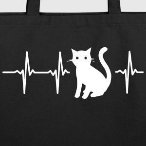 MY HEART BEATS FOR CATS Bags & backpacks - Eco-Friendly Cotton Tote