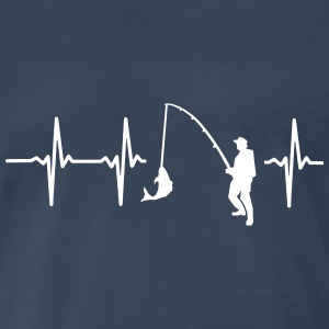 FisMY HEART BEATS FOR FISHING T-Shirts - Men's Premium T-Shirt