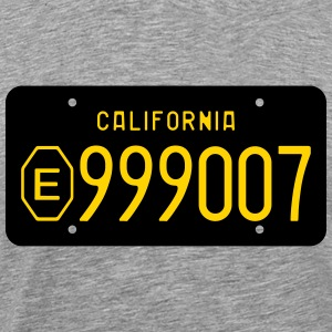 Retro 1960s California Exempt License Plate T-shir - Men's Premium T-Shirt
