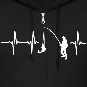FisMY HEART BEATS FOR FISHING Zip Hoodies & Jackets - Men's Zip Hoodie