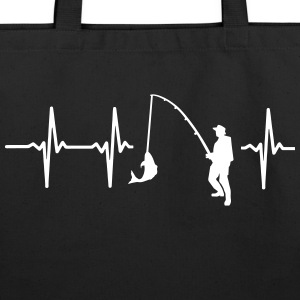 FisMY HEART BEATS FOR FISHING Bags & backpacks - Eco-Friendly Cotton Tote