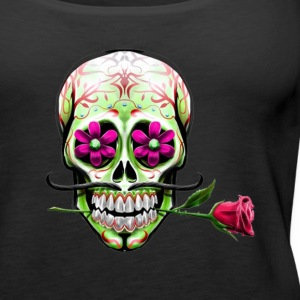 Mexican skull and rose - Women's Premium Tank Top