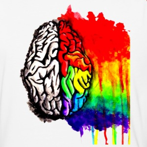 Brain Colorful - Baseball T-Shirt