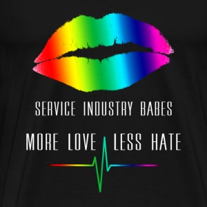 SIBabes More Love Less Hate - Mens - Men's Premium T-Shirt