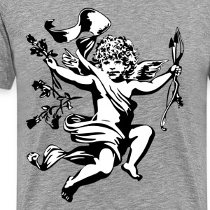 Angel cupid with bow design T-Shirts - Men's Premium T-Shirt