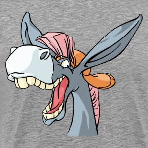 Cartoon Donkey funny art - Men's Premium T-Shirt
