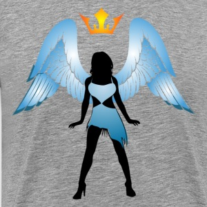 Angel with crown silhouette - Men's Premium T-Shirt
