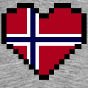 Norwegian Heart - Men's Premium T-Shirt