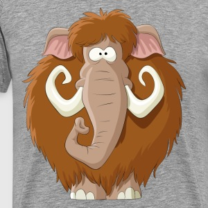 Amusing cartoon mammoth - Men's Premium T-Shirt