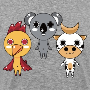 Chick cow and mouse cartoon - Men's Premium T-Shirt