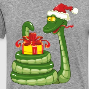 Snake Christmas design graphics T-Shirts - Men's Premium T-Shirt