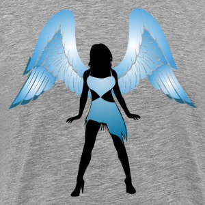 Angel with crown silhouette T-Shirts - Men's Premium T-Shirt