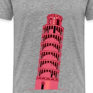 Leaning tower of Pisa T-Shirts - Men's Premium T-Shirt