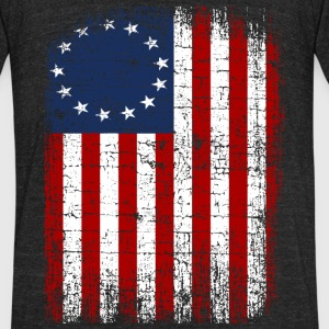 USA 13 Star 1776 Flag T-Shirts - Unisex Tri-Blend T-Shirt by American Apparel