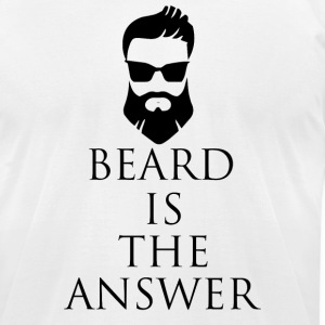 Bear Is The Answer - Men's T-Shirt by American Apparel