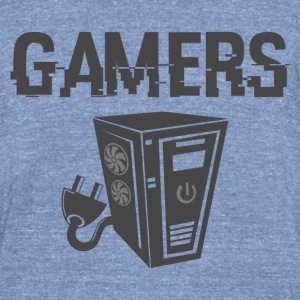 Gamers - Unisex Tri-Blend T-Shirt by American Apparel
