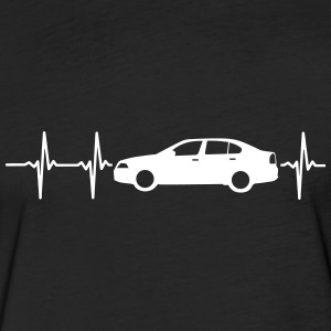 MY HEART BEATS FOR CARS! T-Shirts - Fitted Cotton/Poly T-Shirt by Next Level