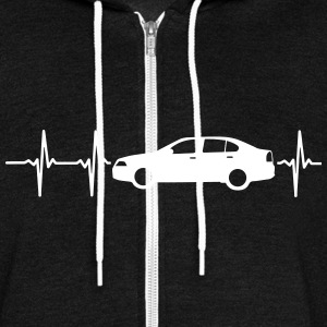 MY HEART BEATS FOR CARS! Zip Hoodies & Jackets - Unisex Fleece Zip Hoodie by American Apparel