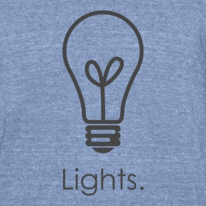 Lights - Unisex Tri-Blend T-Shirt by American Apparel