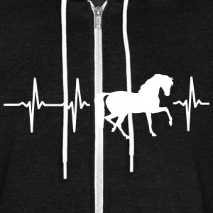 MY HEART BEATS FOR HORSES! Zip Hoodies & Jackets - Unisex Fleece Zip Hoodie by American Apparel